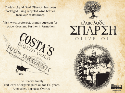 Logo design, corporate identity, food beverage packaging, Costa Olive Oil